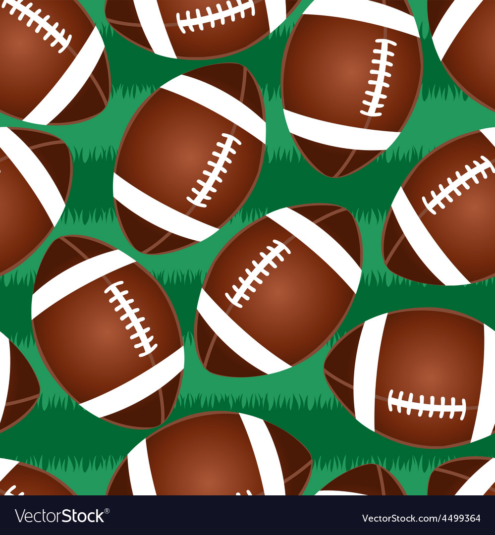 Cute football seamless pattern vector