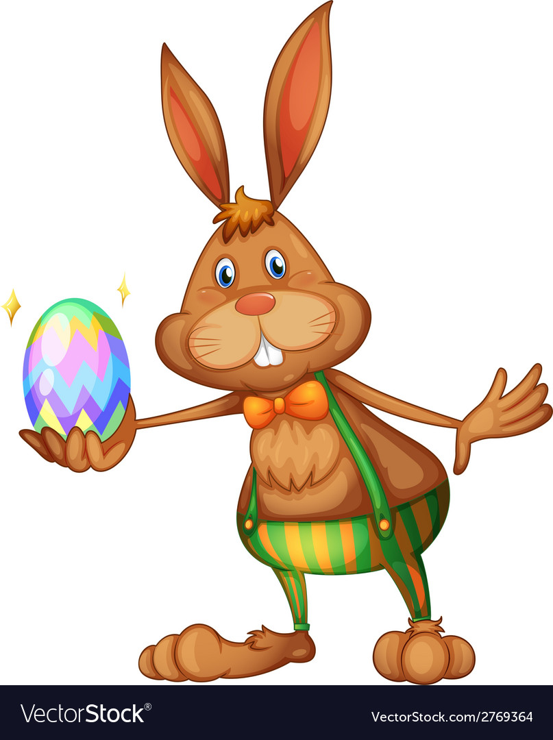Easter rabbit vector | Price: 1 Credit (USD $1)