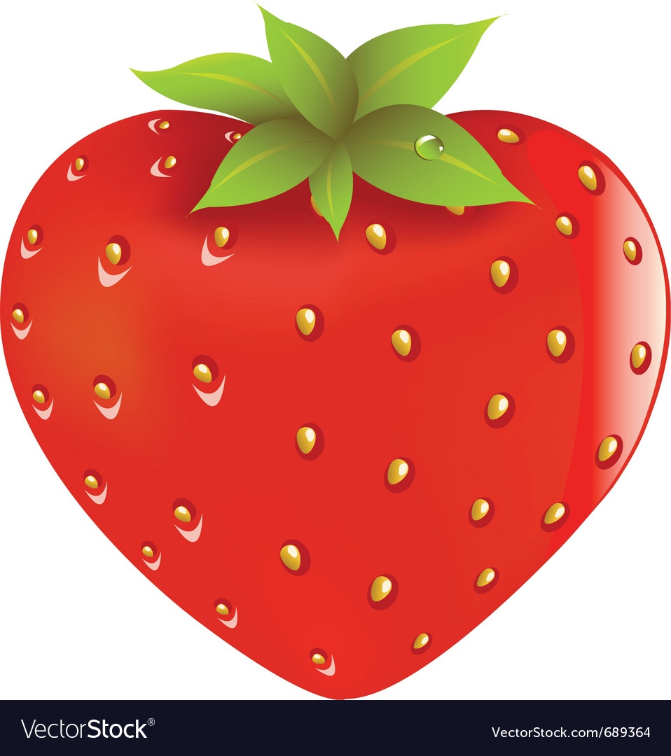 Fresh strawberry vector | Price: 1 Credit (USD $1)