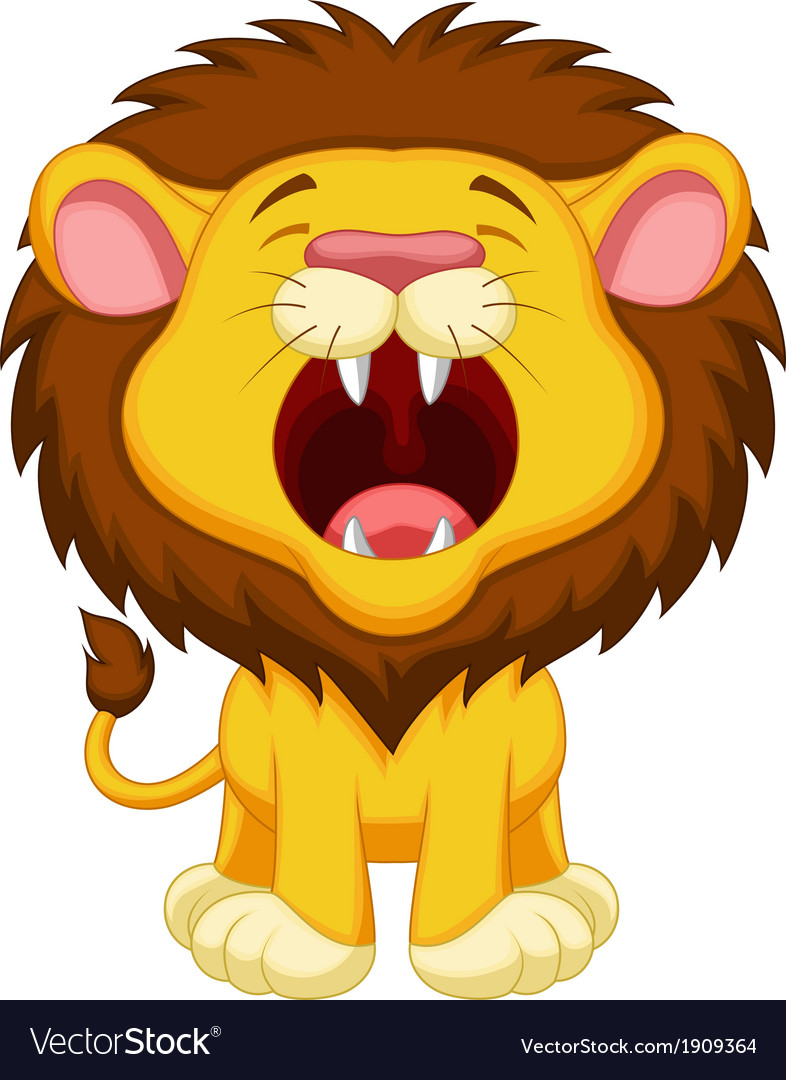 Lion cartoon roaring vector | Price: 1 Credit (USD $1)
