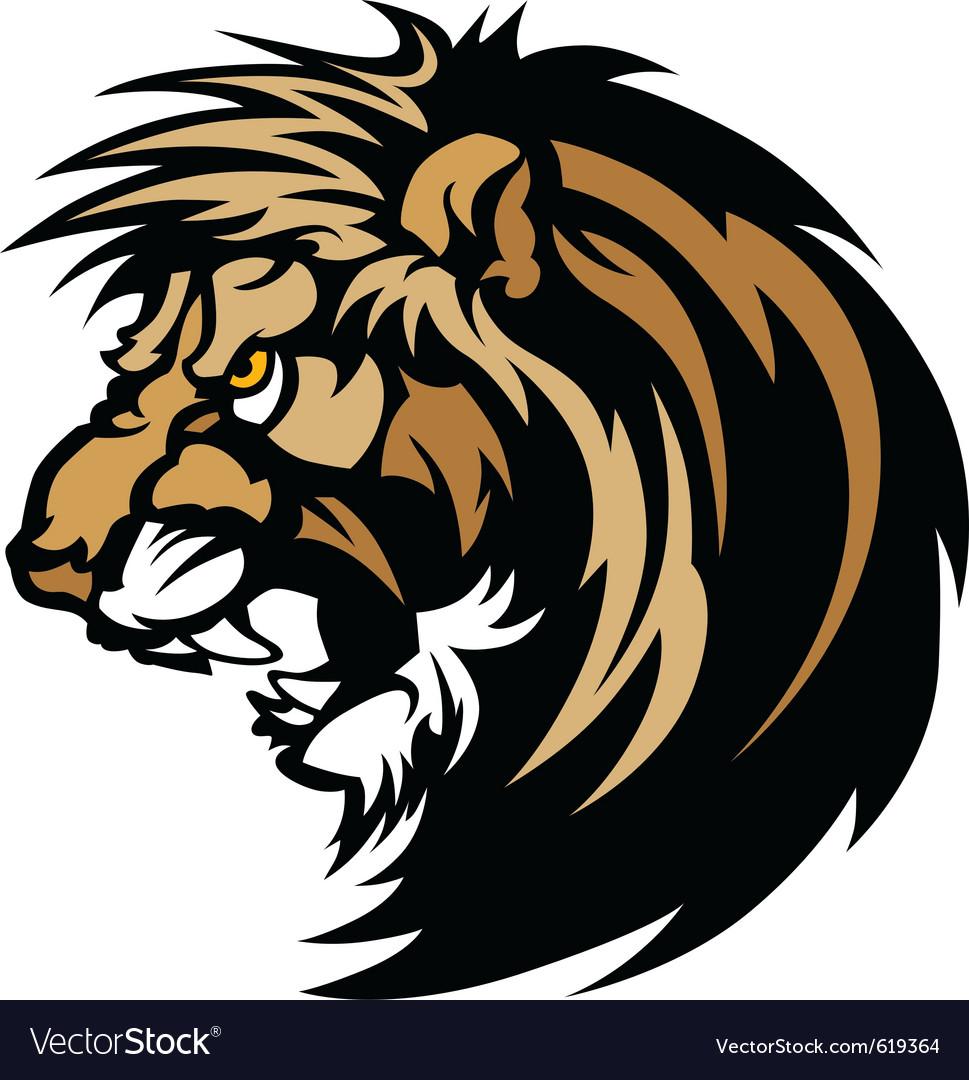 Lion head graphic mascot vector | Price: 3 Credit (USD $3)