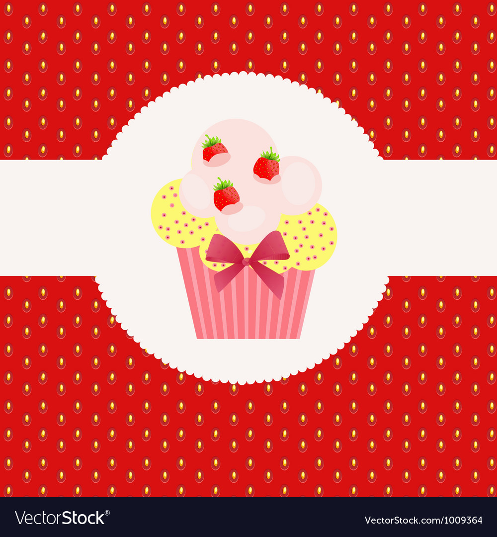 Strawberry cake on strawberry background vector   Price: 1 Credit (USD $1)