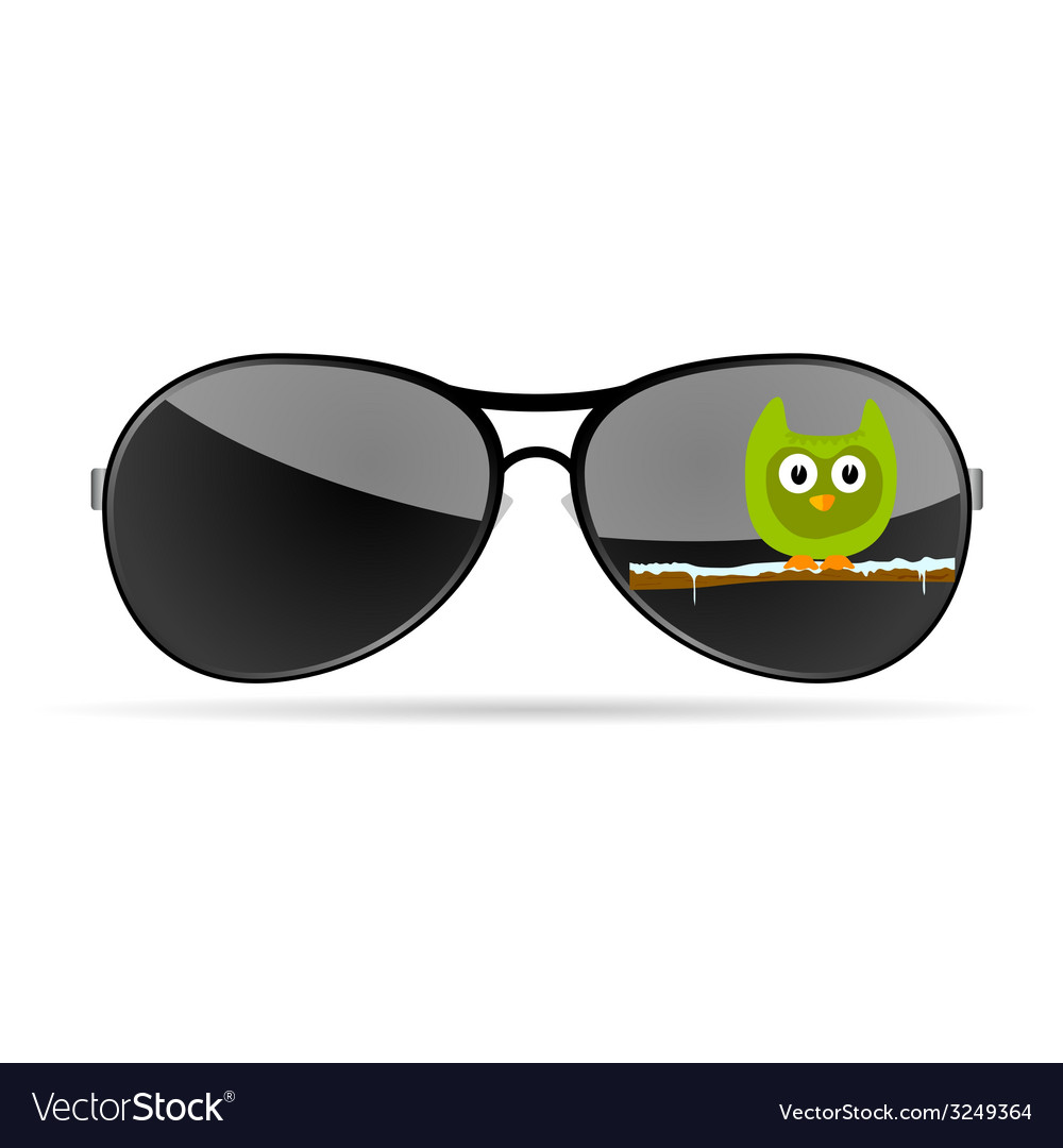 Sunglasses with funny animal color vector | Price: 1 Credit (USD $1)