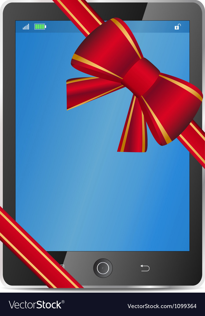 Tablet pc gift vector | Price: 1 Credit (USD $1)