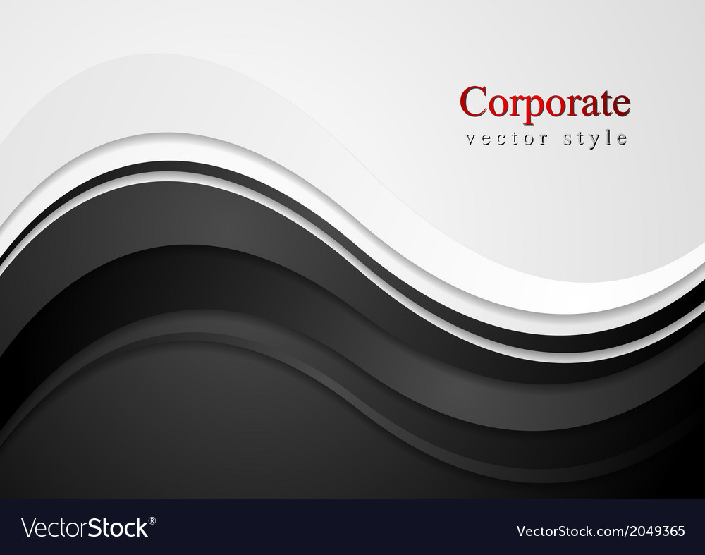 Abstract wavy corporate design vector | Price: 1 Credit (USD $1)