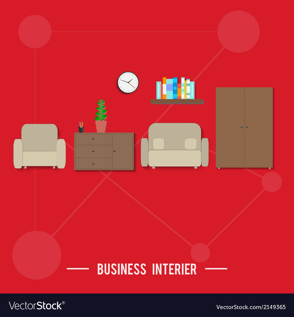 Business interior concept vector | Price: 1 Credit (USD $1)