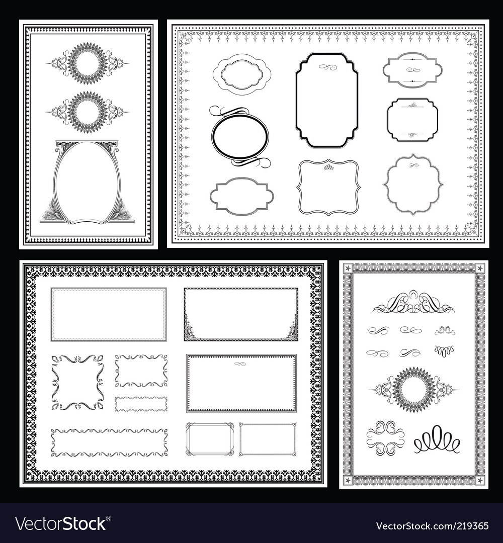 Frame and ornaments vector | Price: 3 Credit (USD $3)
