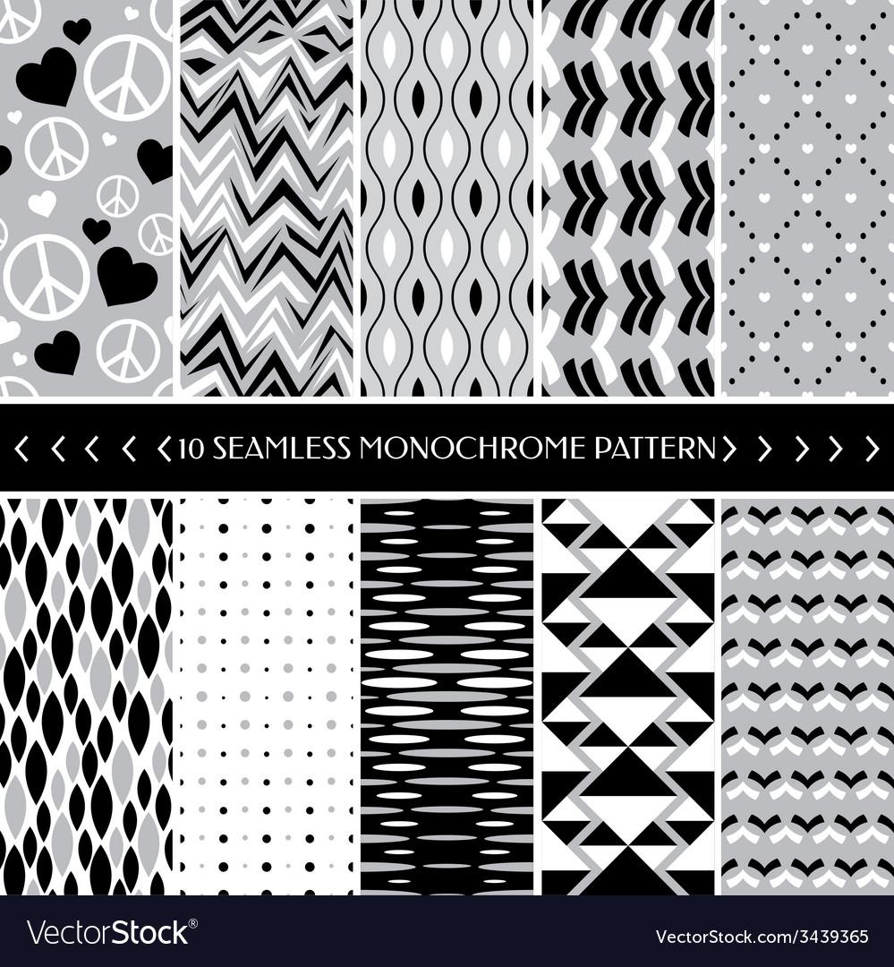 Geometric seamless patterns vector | Price: 1 Credit (USD $1)