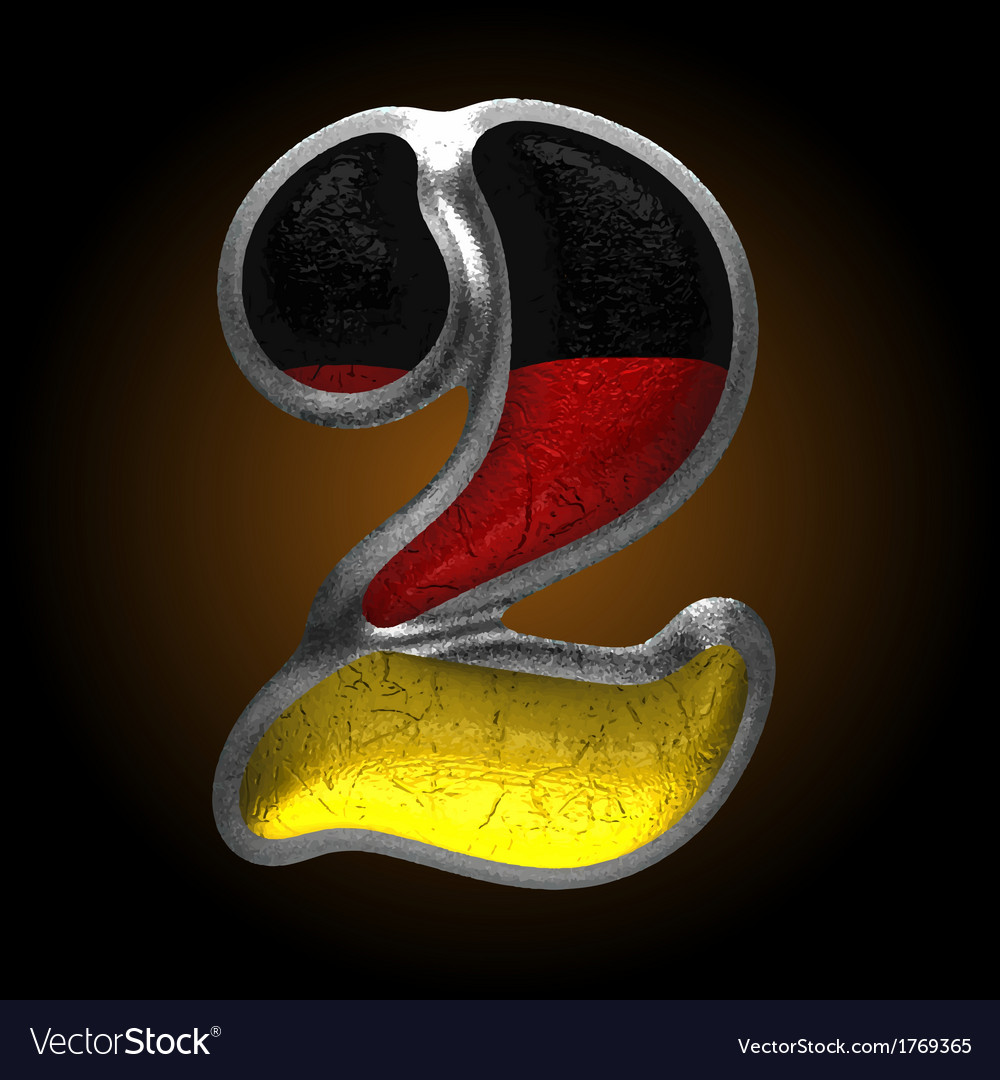 Germany metal figure 2 vector | Price: 1 Credit (USD $1)