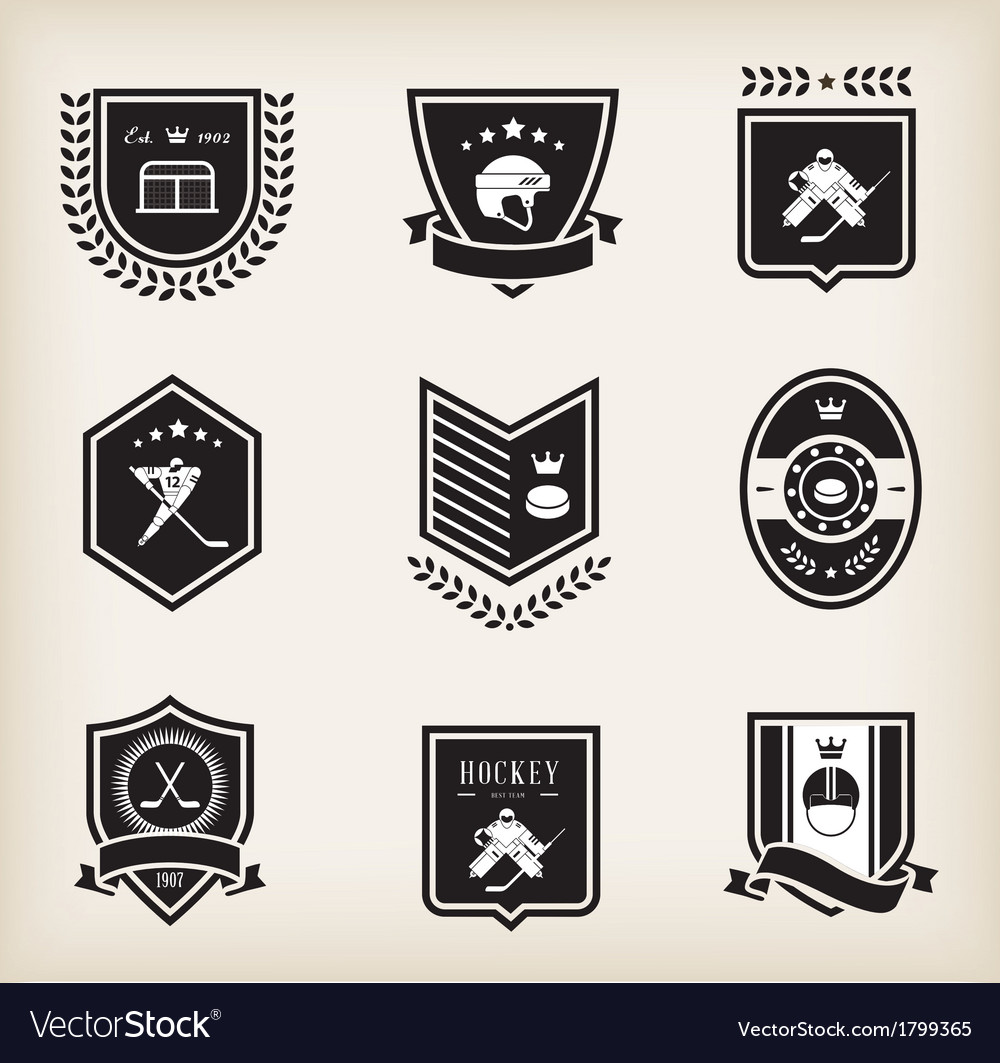 Hockey sport icons vector | Price: 1 Credit (USD $1)