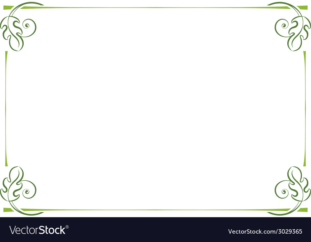 Horizontal frame vector | Price: 1 Credit (USD $1)