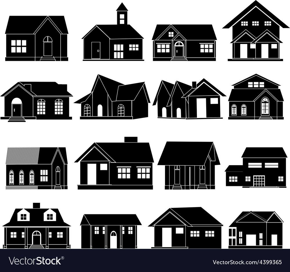 House icons set vector | Price: 3 Credit (USD $3)