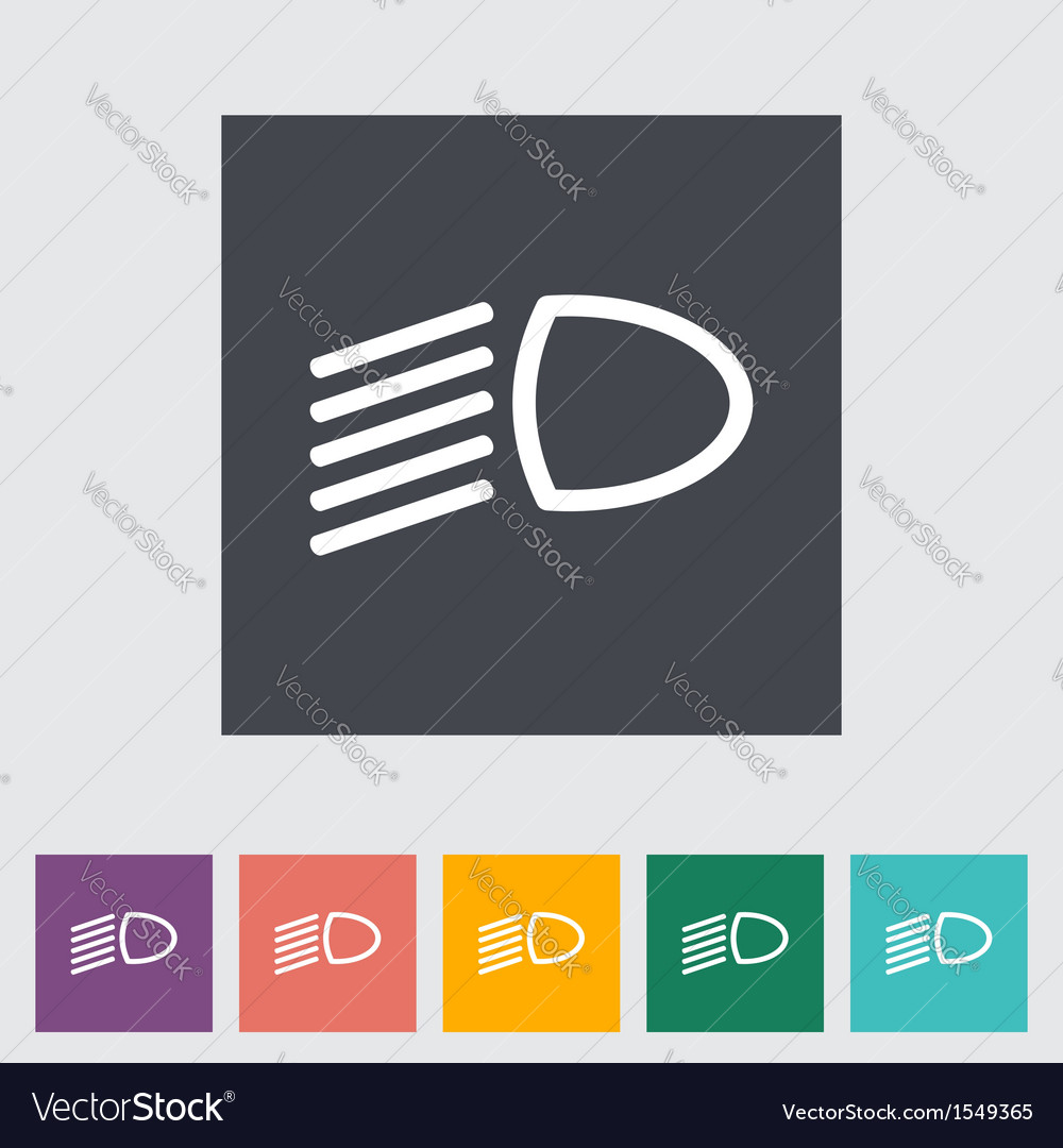Icon dipped headlights vector | Price: 1 Credit (USD $1)