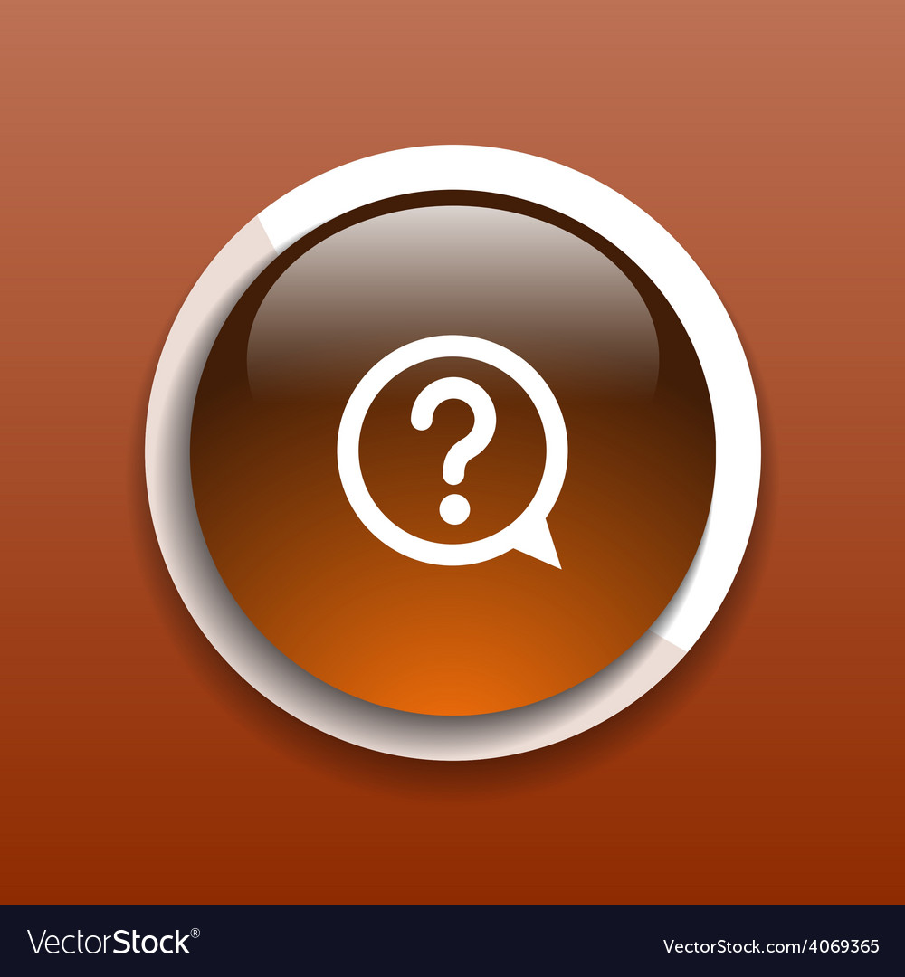 Image of question mark icon solution mark symbol b vector | Price: 1 Credit (USD $1)