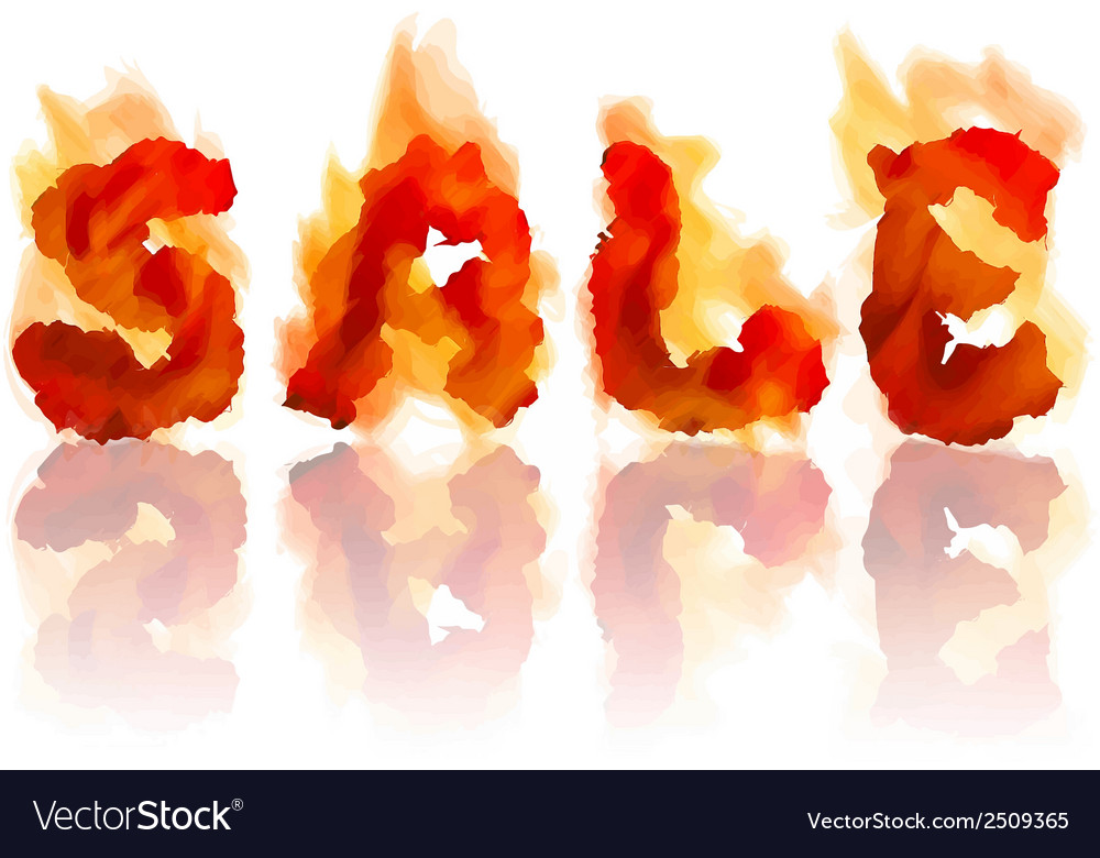 Inscription burning sale vector | Price: 1 Credit (USD $1)