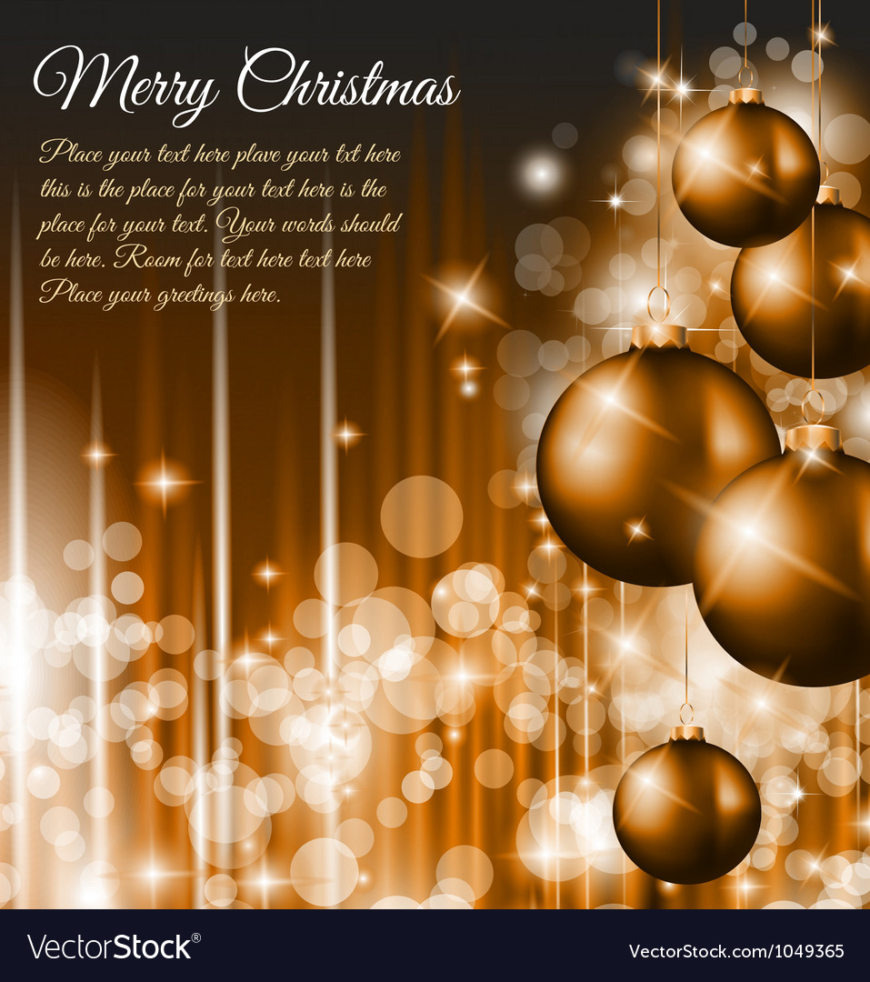 Merry christmas elegant vector | Price: 1 Credit (USD $1)