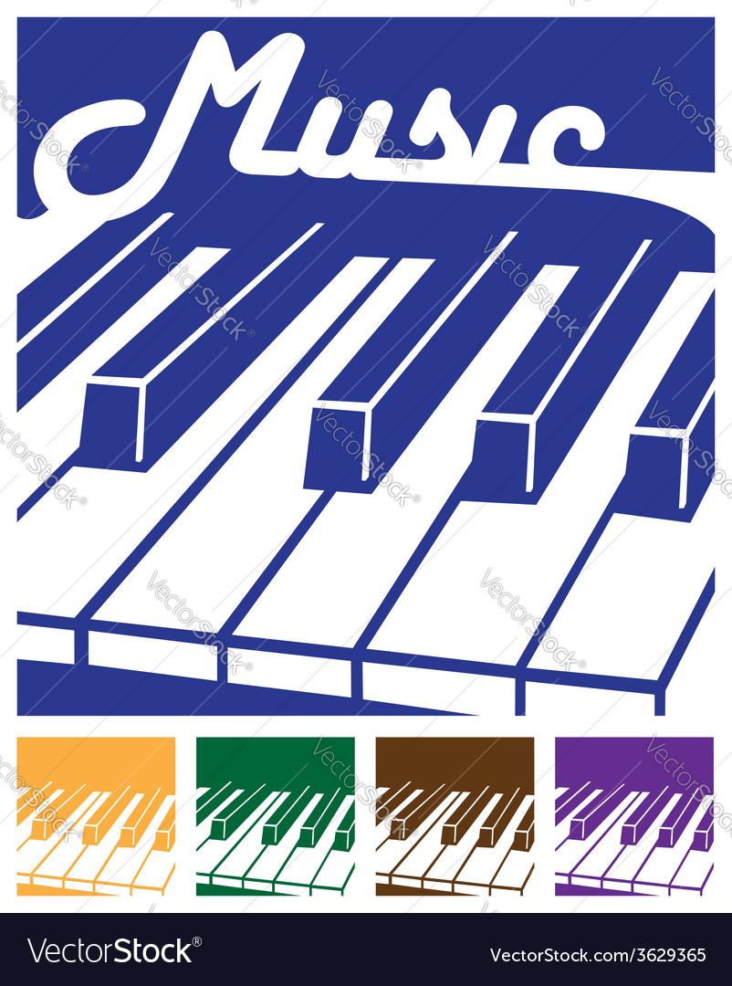 Piano icons vector | Price: 1 Credit (USD $1)