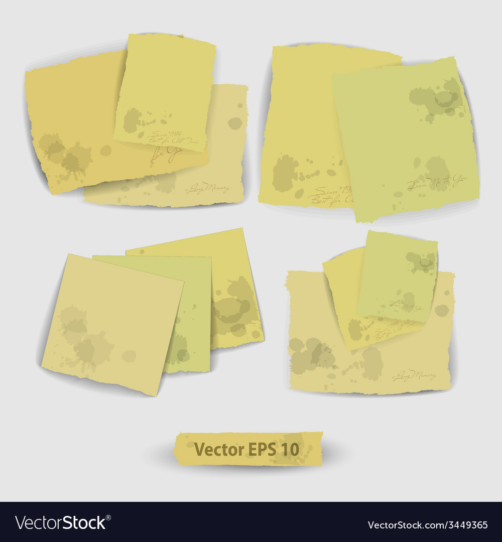 Pieces of paper vector | Price: 1 Credit (USD $1)