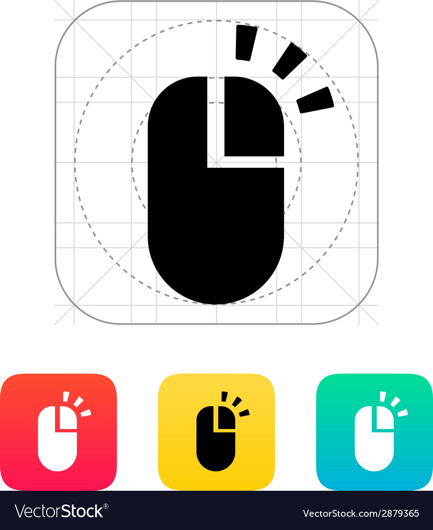 Right click mouse icon vector | Price: 1 Credit (USD $1)