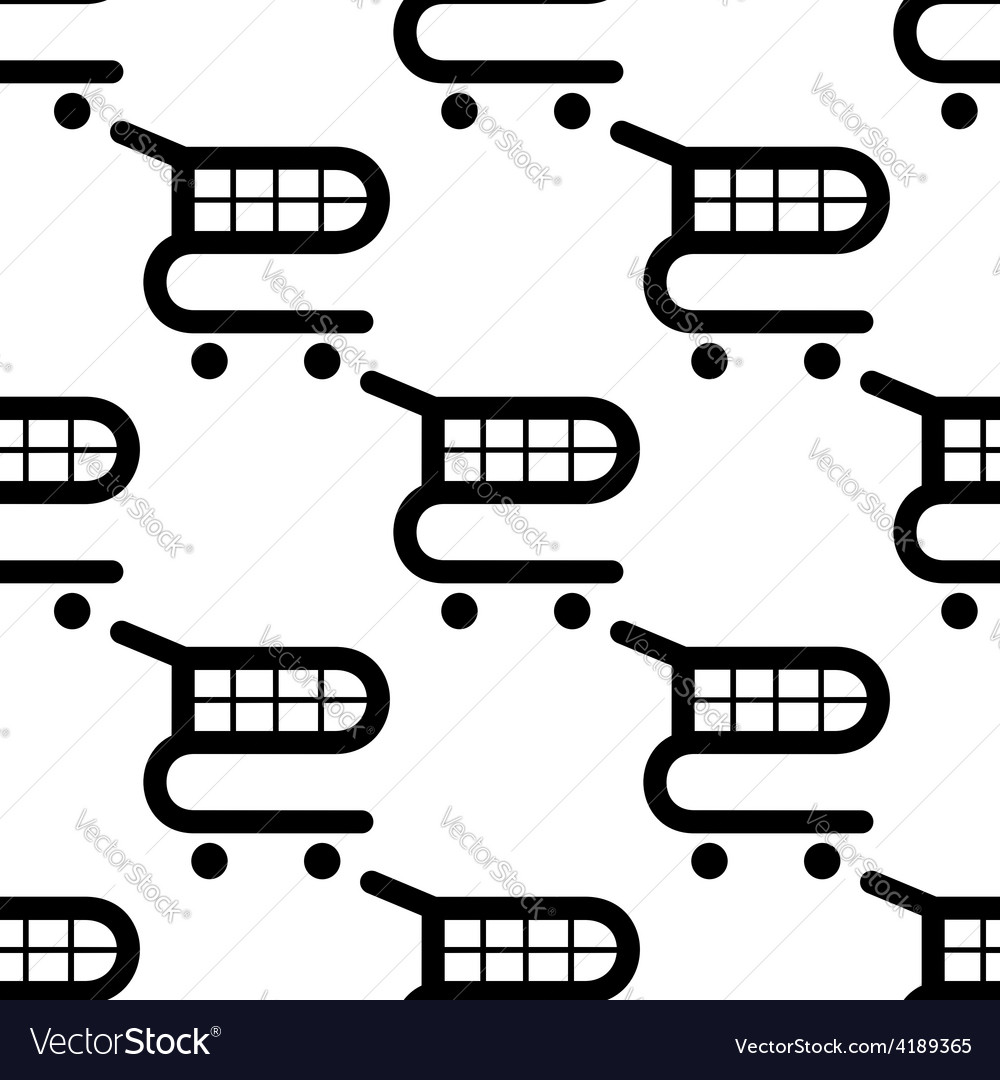 Seamless background of black shopping carts vector | Price: 1 Credit (USD $1)