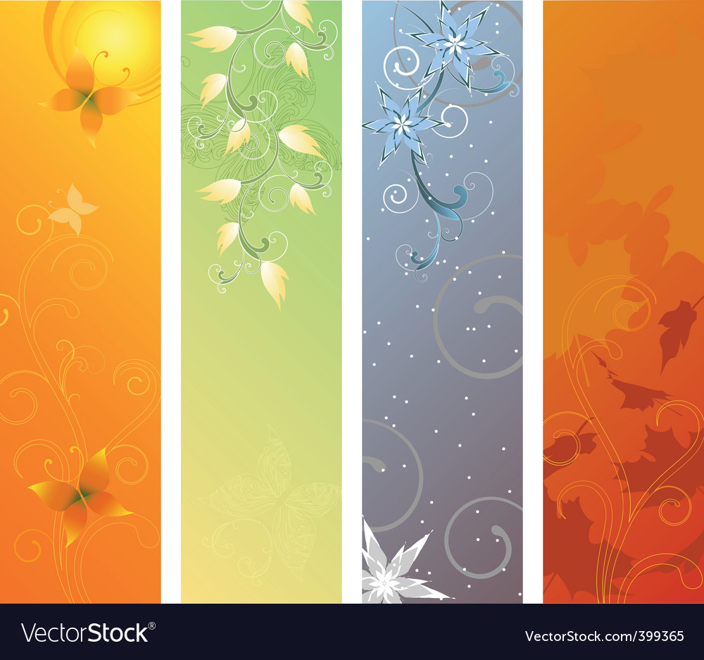 Season banners vector | Price: 1 Credit (USD $1)