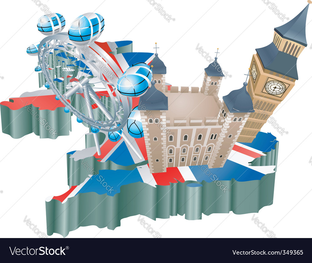 United kingdom tourism vector | Price: 3 Credit (USD $3)