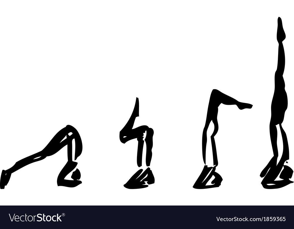 Yoga pose sirsasana vector | Price: 1 Credit (USD $1)