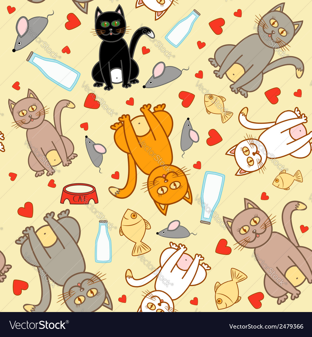 Cat pattern vector | Price: 1 Credit (USD $1)