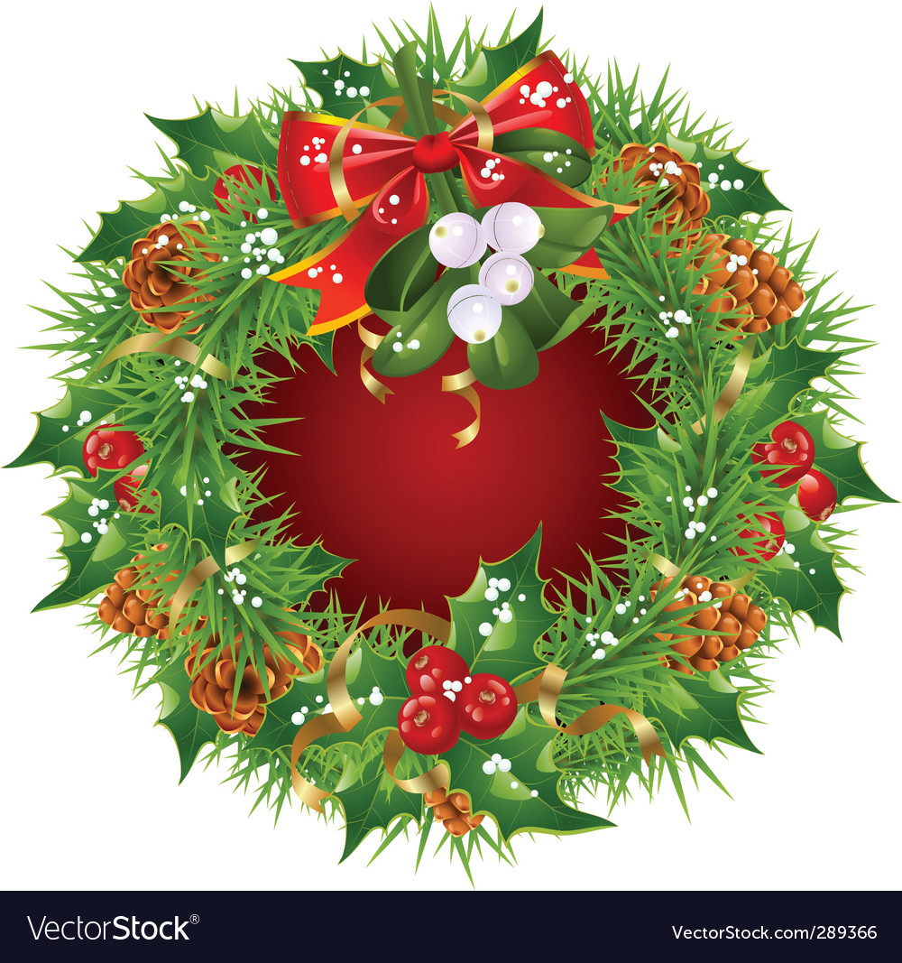 Christmas garland frame vector | Price: 3 Credit (USD $3)