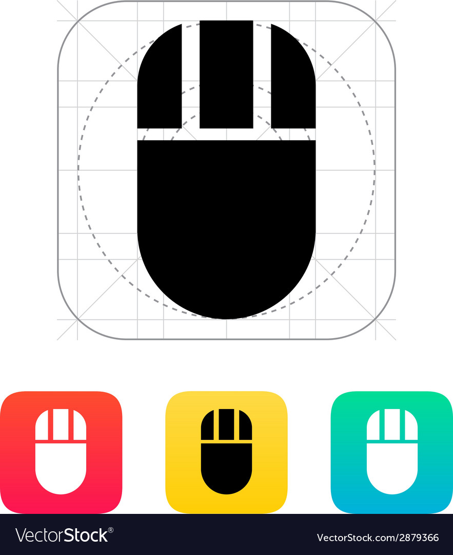 Computer mouse icon vector | Price: 1 Credit (USD $1)