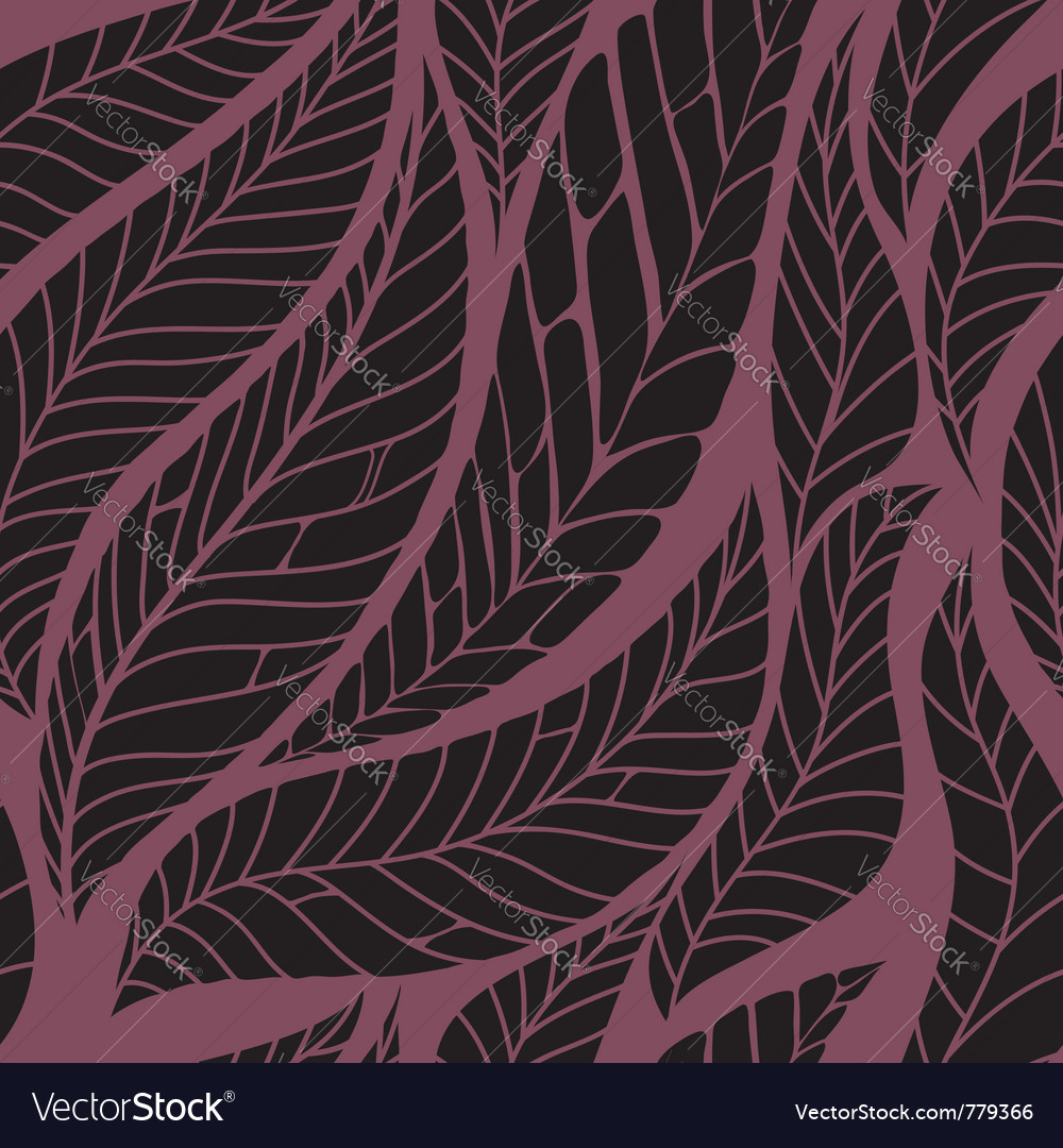 Leaves seamless pattern vector | Price: 1 Credit (USD $1)