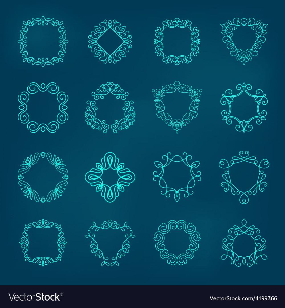 Monogram set vector | Price: 1 Credit (USD $1)
