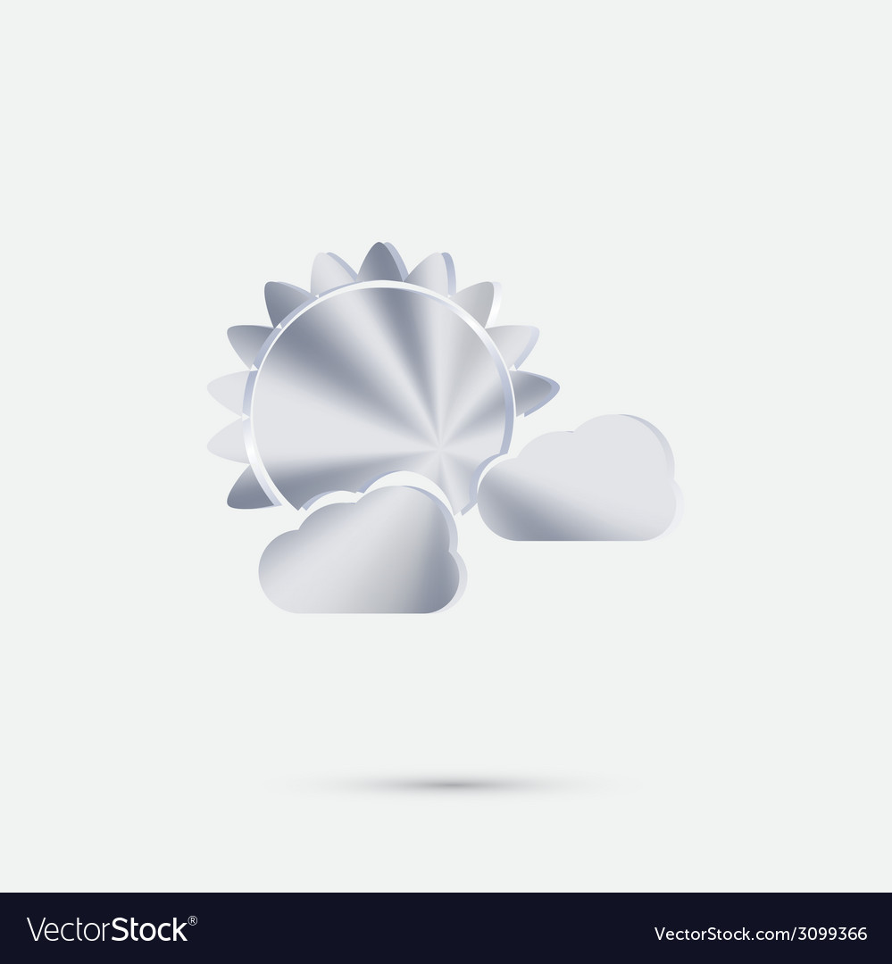 Sun behind the cloud the weather icon vector | Price: 1 Credit (USD $1)