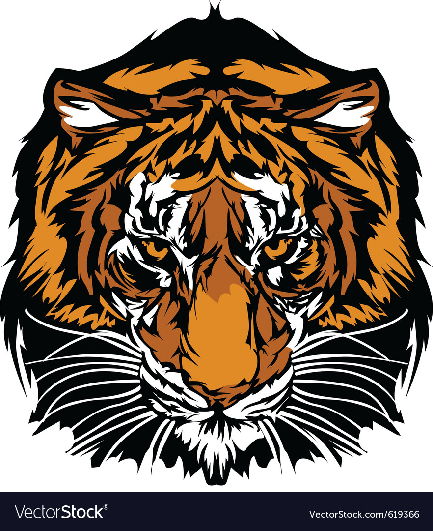 Tiger head graphic mascot vector | Price: 3 Credit (USD $3)