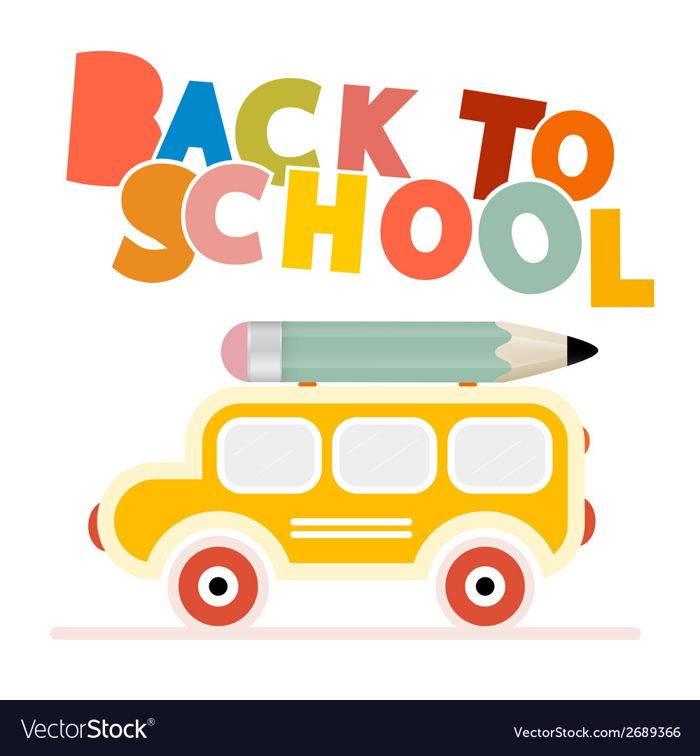 Yellow school bus - back to school vector | Price: 1 Credit (USD $1)