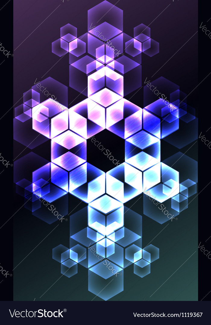 Abstract snowflake decorative background vector | Price:  Credit (USD $)