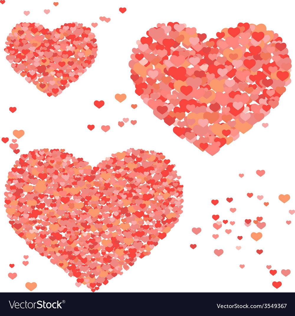 Abstract valentine hearts vector   Price: 1 Credit (USD $1)