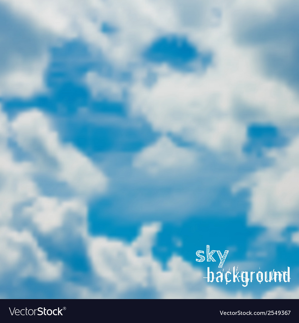 Background with blue sky and clouds vector | Price: 1 Credit (USD $1)