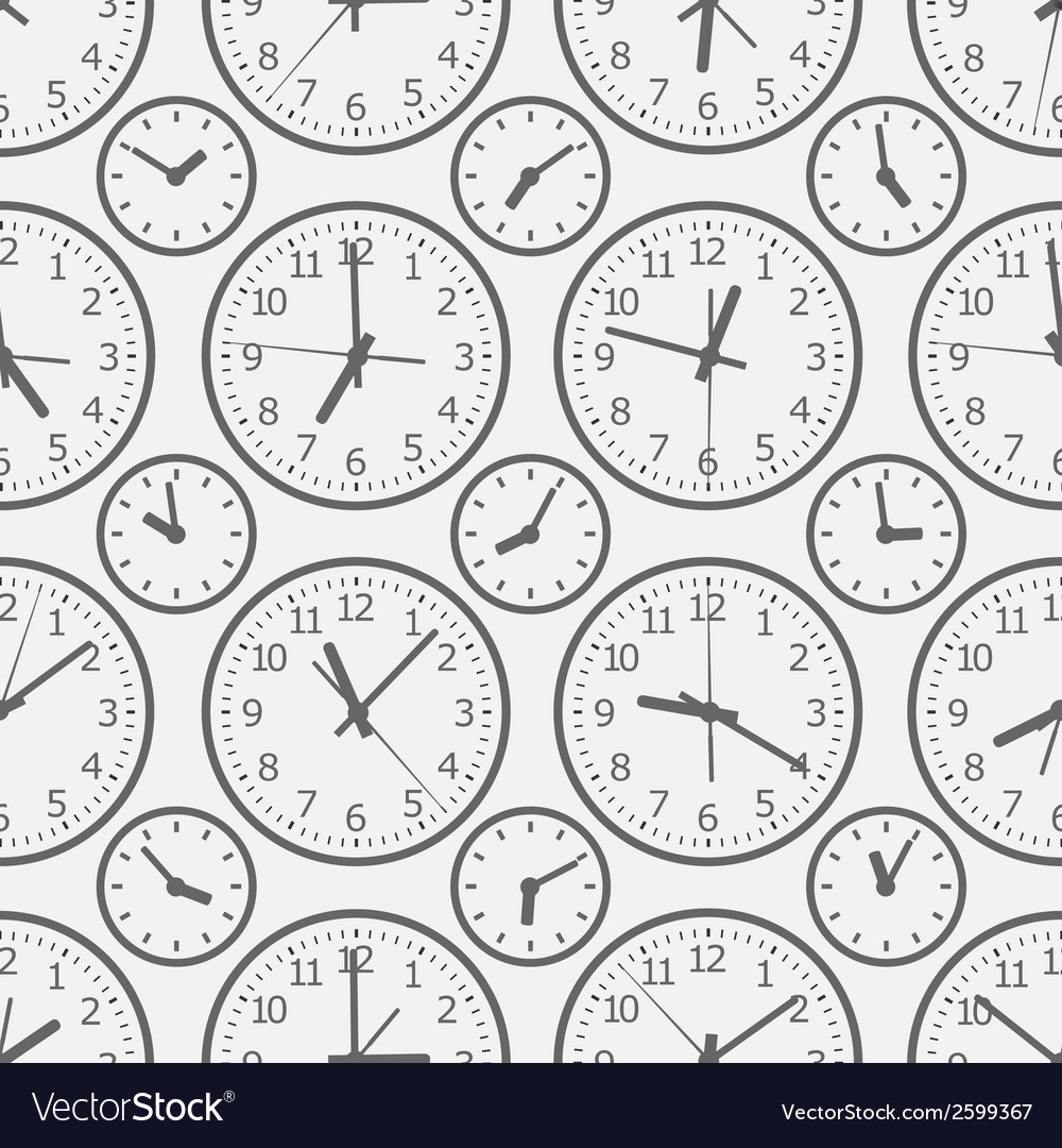 Clock seamless pattern the electronic device vector | Price: 1 Credit (USD $1)