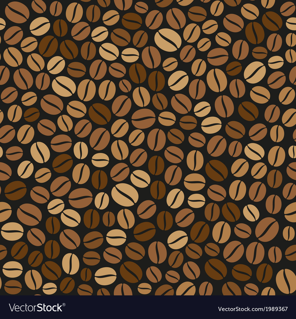 Coffee beans seamless pattern on dark background vector   Price: 1 Credit (USD $1)
