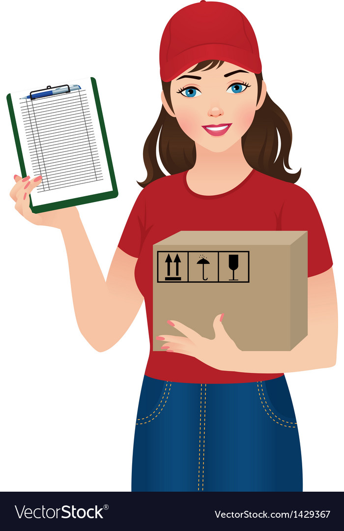 Courier delivery services vector | Price: 1 Credit (USD $1)