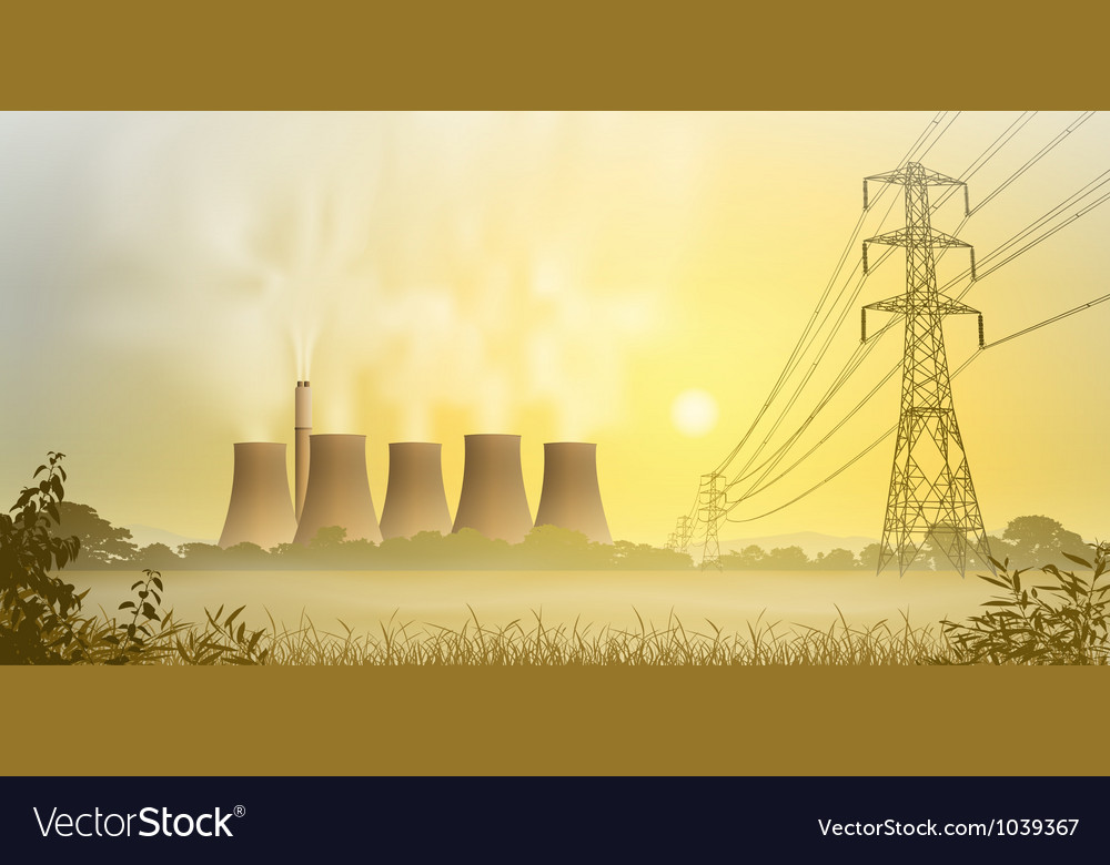 Electricity plant vector | Price: 1 Credit (USD $1)