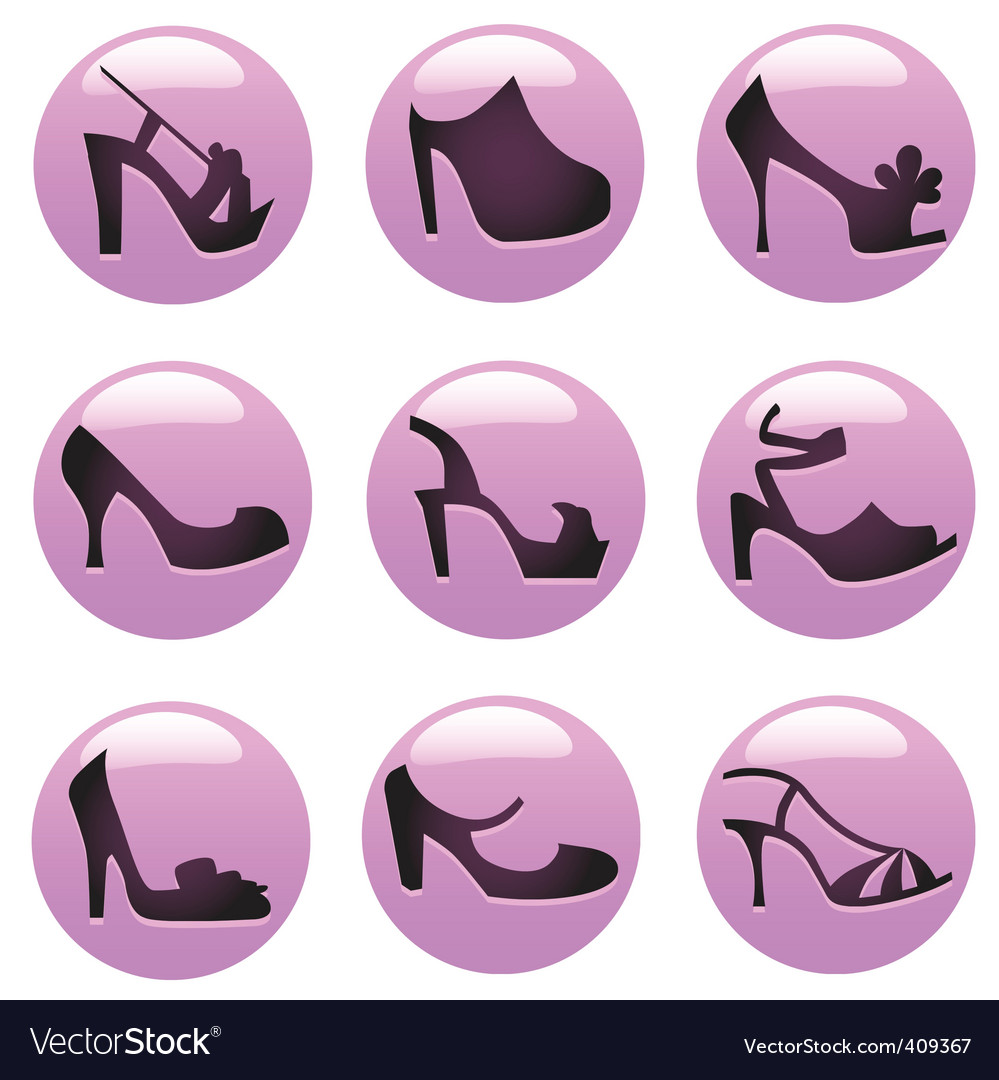 Fashion shoes icon vector | Price: 1 Credit (USD $1)