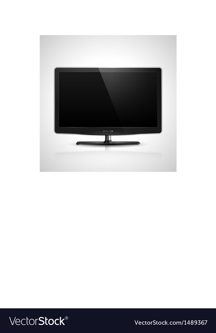 Hd tv vector | Price: 1 Credit (USD $1)