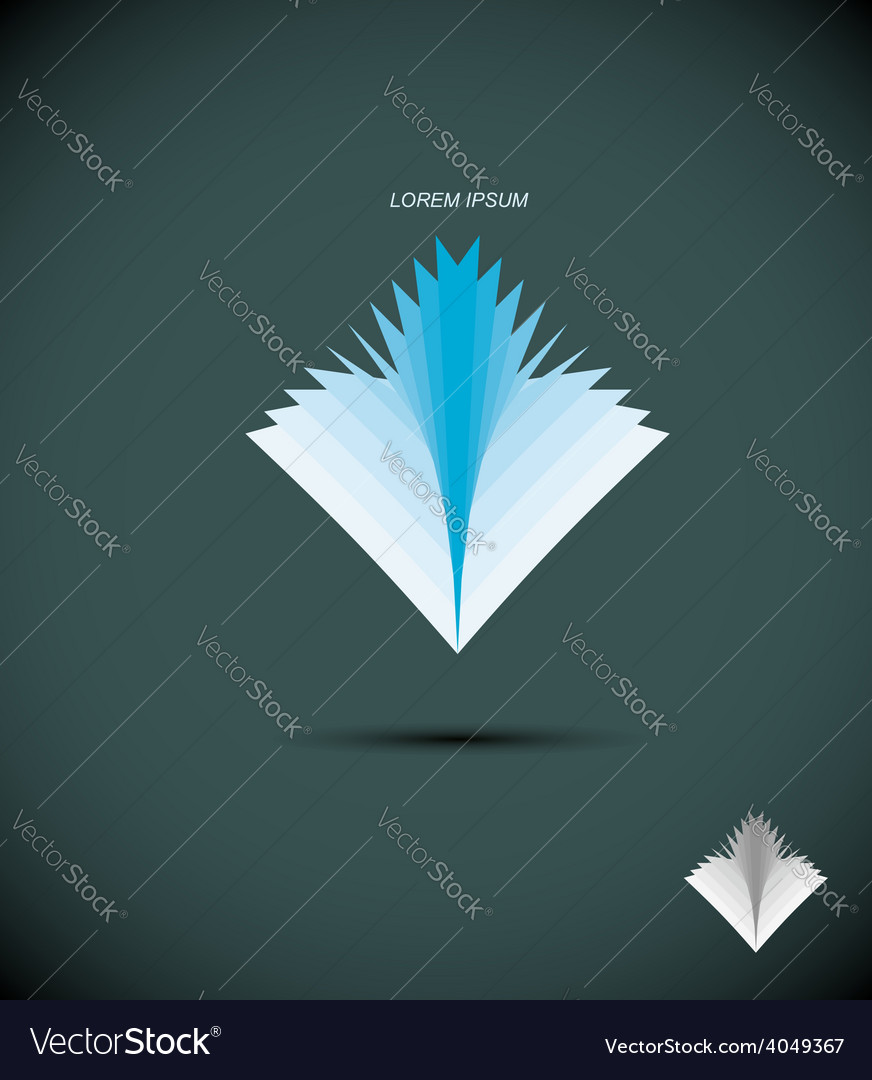 Logo book abstract icon book sheets the concept vector | Price: 1 Credit (USD $1)