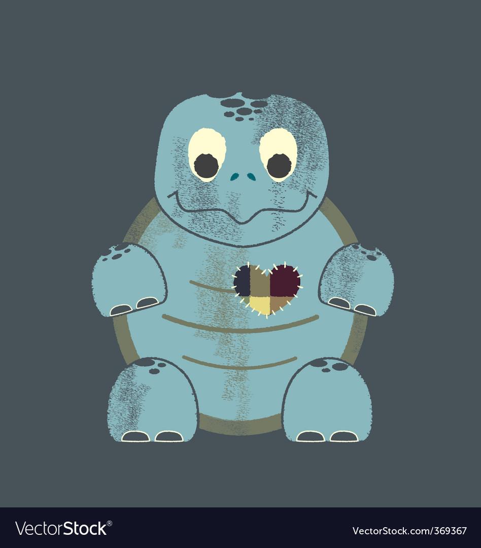 Valentine turtle vector | Price: 1 Credit (USD $1)