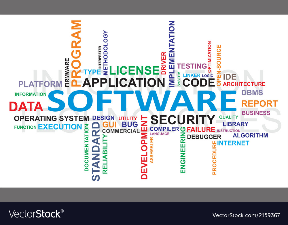 Word cloud software vector | Price: 1 Credit (USD $1)