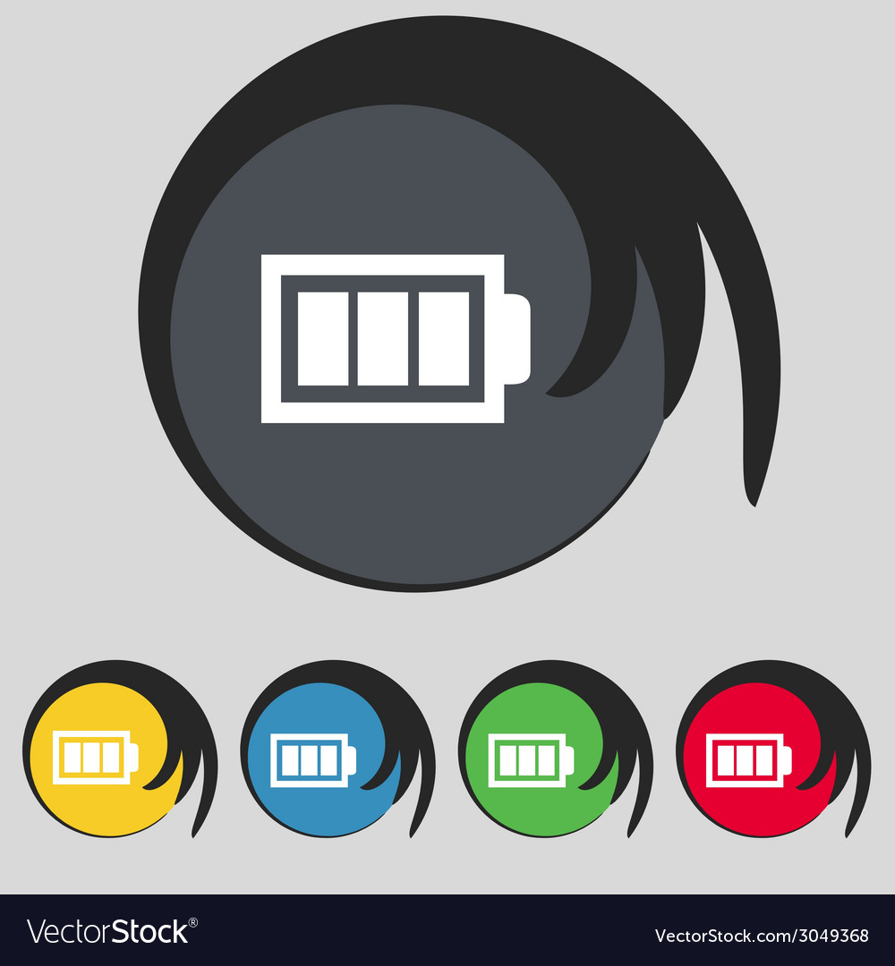 Battery fully charged sign icon electricity symbol vector | Price: 1 Credit (USD $1)
