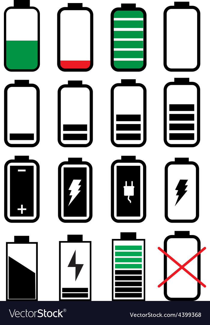 Battery life icons set vector | Price: 3 Credit (USD $3)