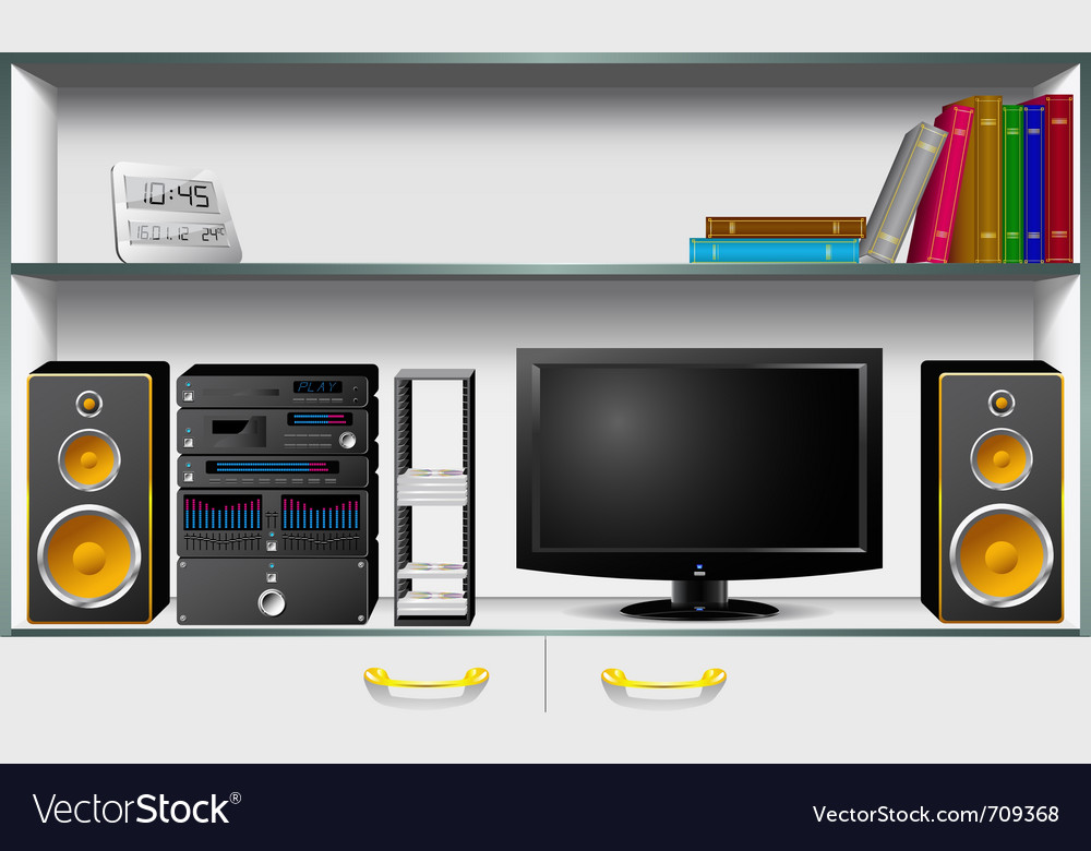 Cabinet and household items vector | Price: 3 Credit (USD $3)